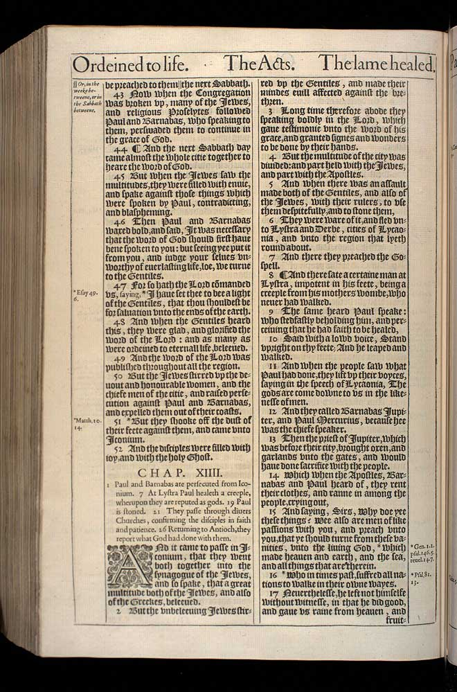 Acts Chapter 13 Original 1611 Bible Scan