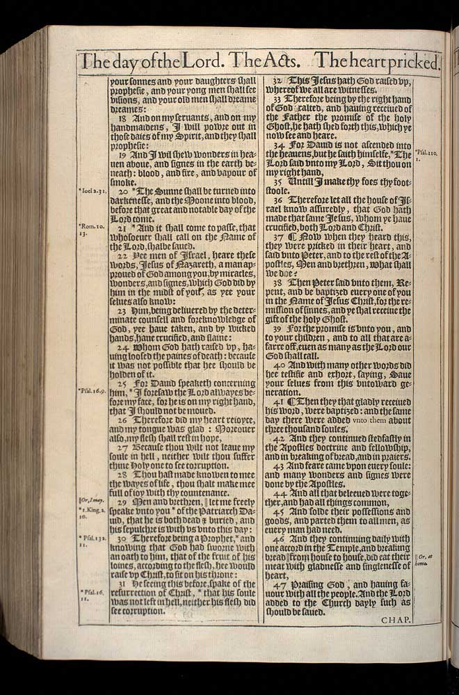 Acts Chapter 2 Original 1611 Bible Scan