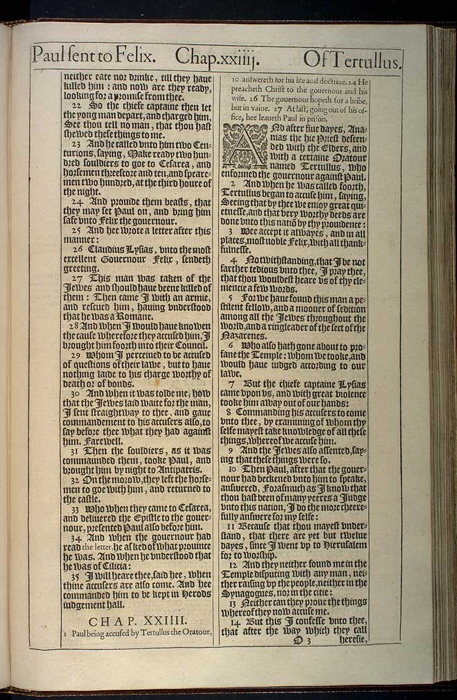 Acts Chapter 23 Original 1611 Bible Scan