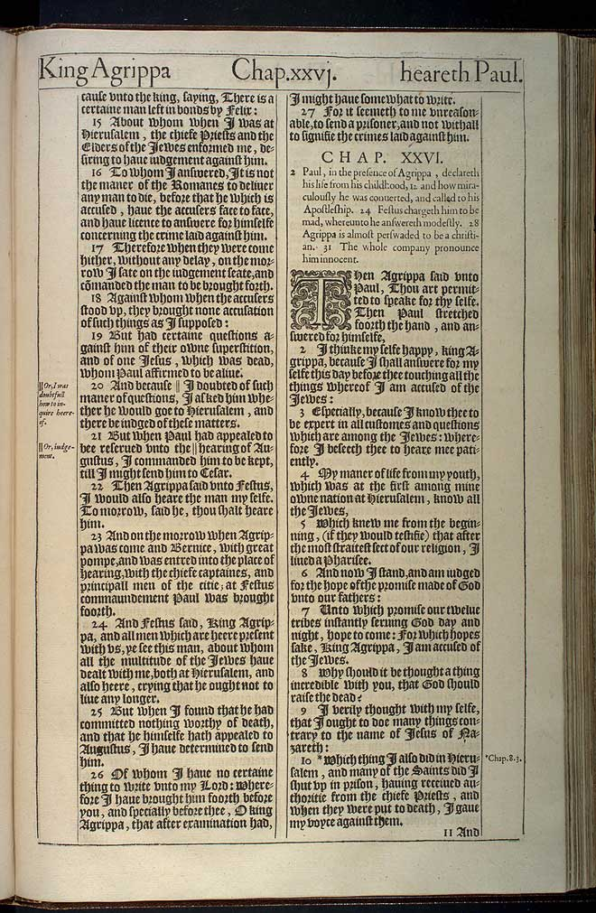 Acts Chapter 26 Original 1611 Bible Scan
