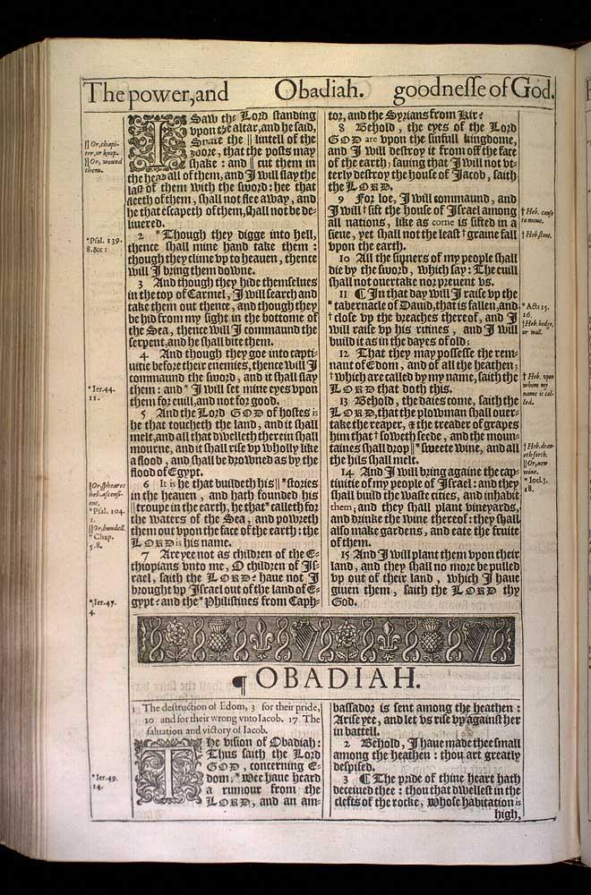 Obadiah Chapter 1 Original 1611 Bible Scan