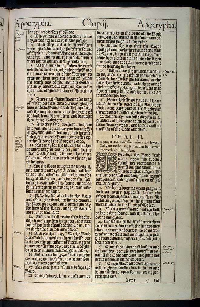 Baruch Chapter 1 Original 1611 Bible Scan