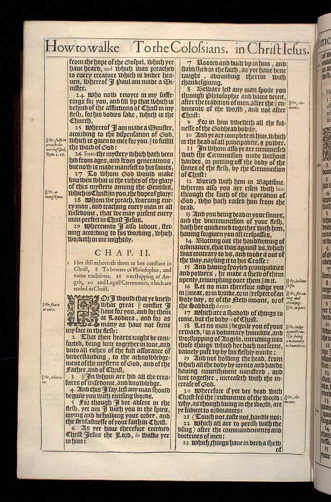 Colossians Chapter 1 Original 1611 Bible Scan
