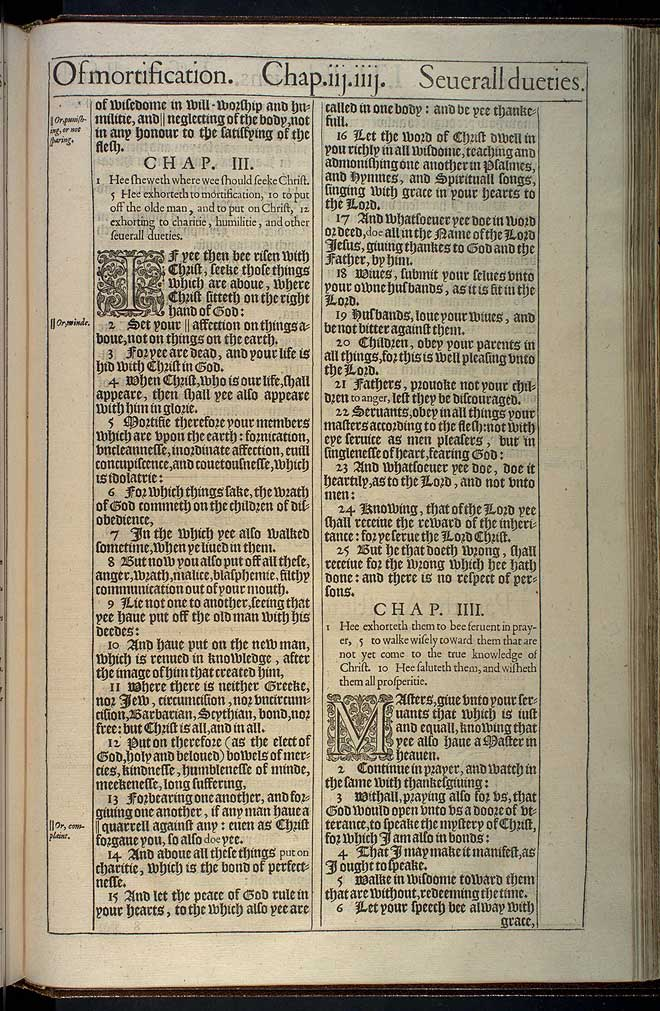 Colossians Chapter 4 Original 1611 Bible Scan
