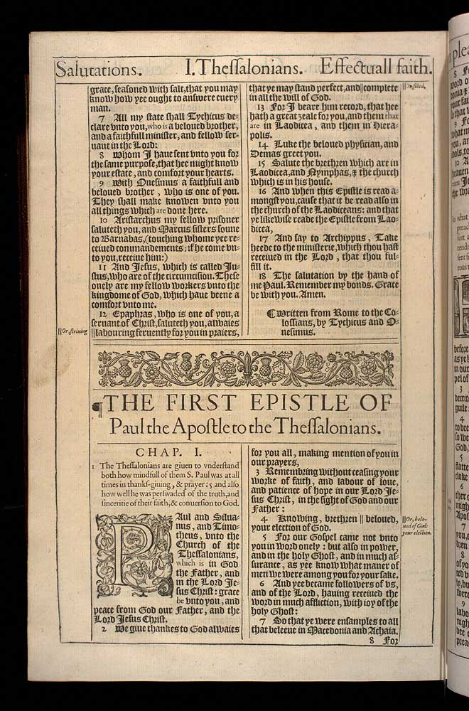 1 Thessalonians Chapter 1 Original 1611 Bible Scan