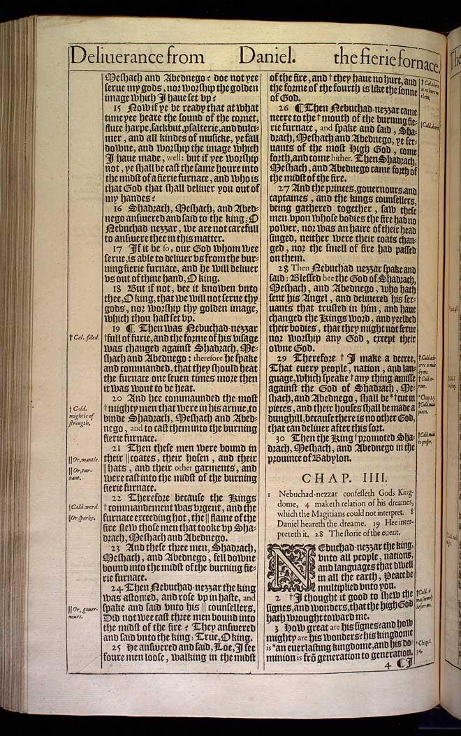 Daniel Chapter 4 Original 1611 Bible Scan