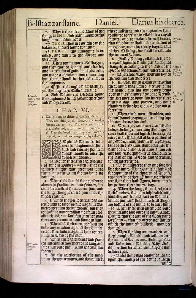 Daniel Chapter 5 Original 1611 Bible Scan