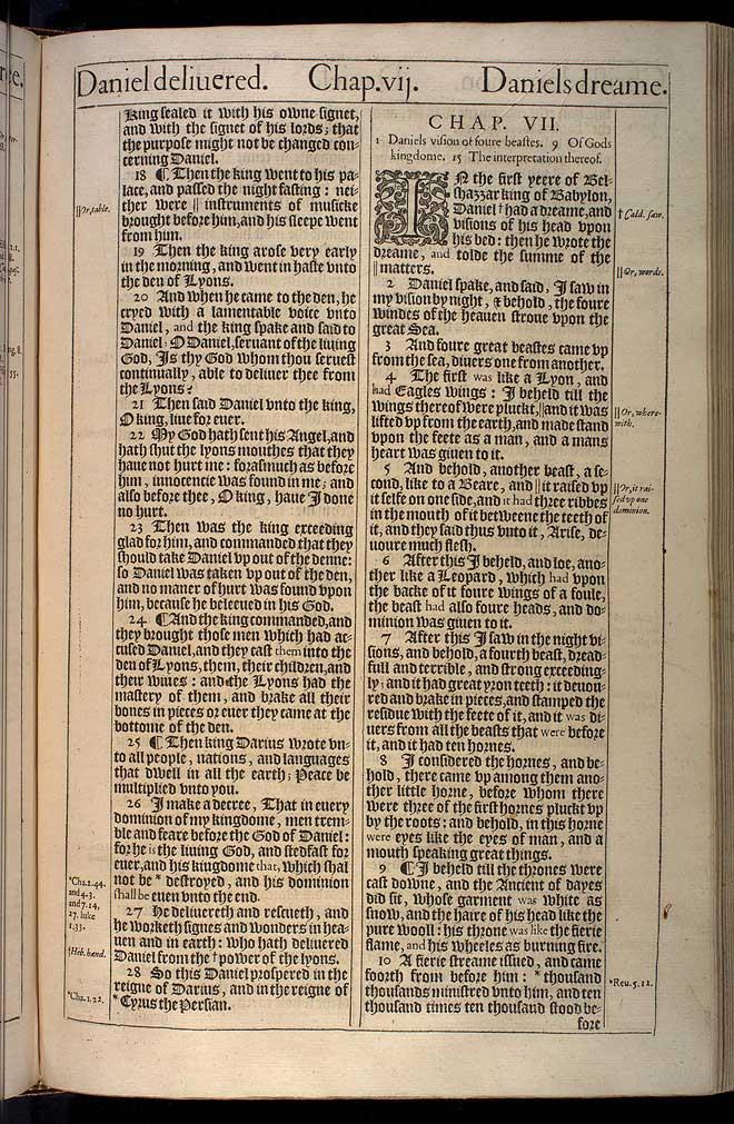Daniel Chapter 6 Original 1611 Bible Scan