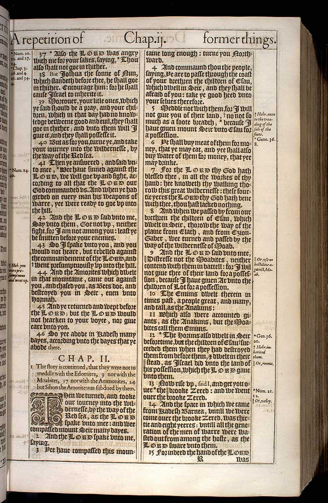Deuteronomy Chapter 1 Original 1611 Bible Scan