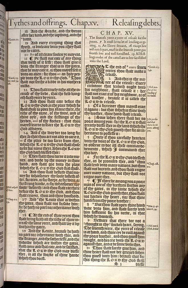 Deuteronomy Chapter 14 Original 1611 Bible Scan