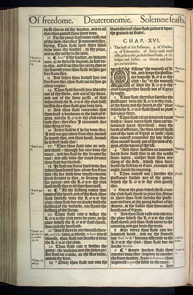Deuteronomy Chapter 16 Original 1611 Bible Scan