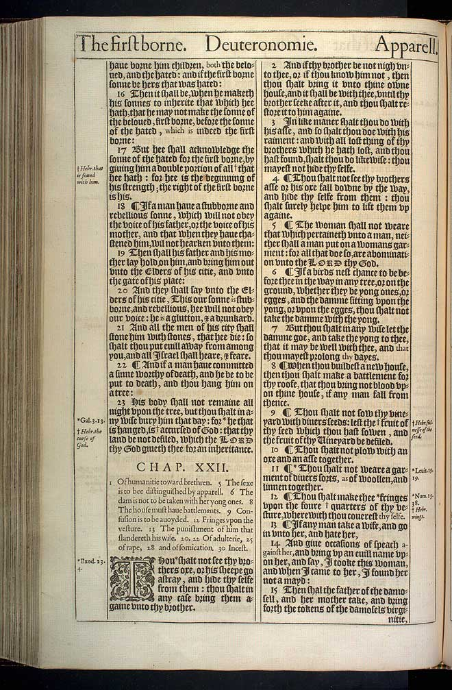 Deuteronomy Chapter 21 Original 1611 Bible Scan