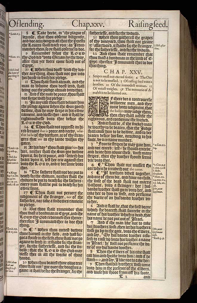 Deuteronomy Chapter 24 Original 1611 Bible Scan