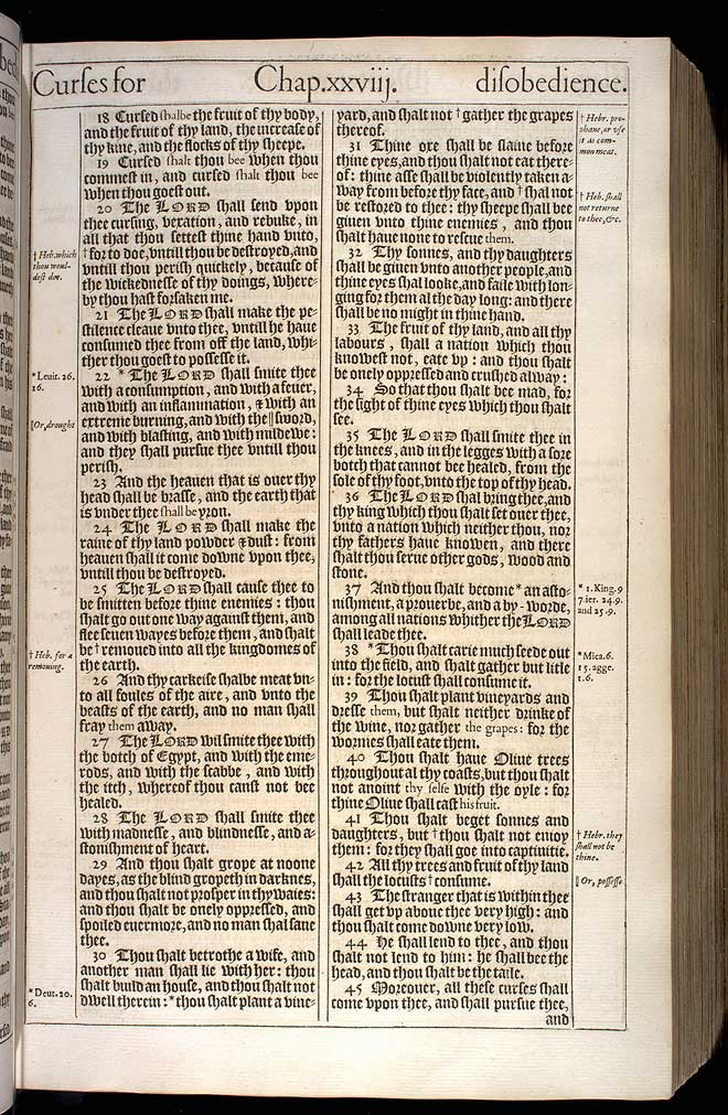 Deuteronomy Chapter 28 Original 1611 Bible Scan