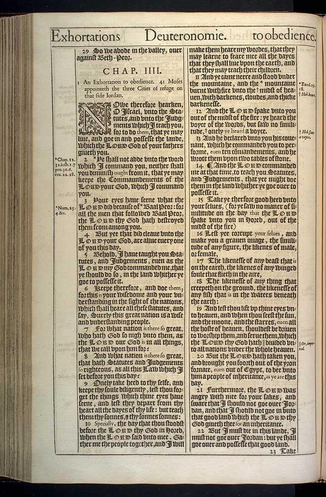 Deuteronomy Chapter 4 Original 1611 Kjv
