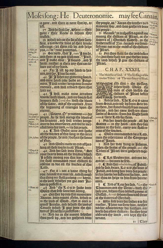 Deuteronomy Chapter 32 Original 1611 Bible Scan