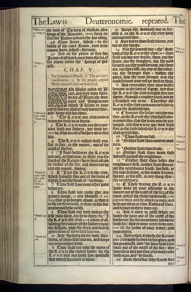 Deuteronomy Chapter 4 Original 1611 Bible Scan