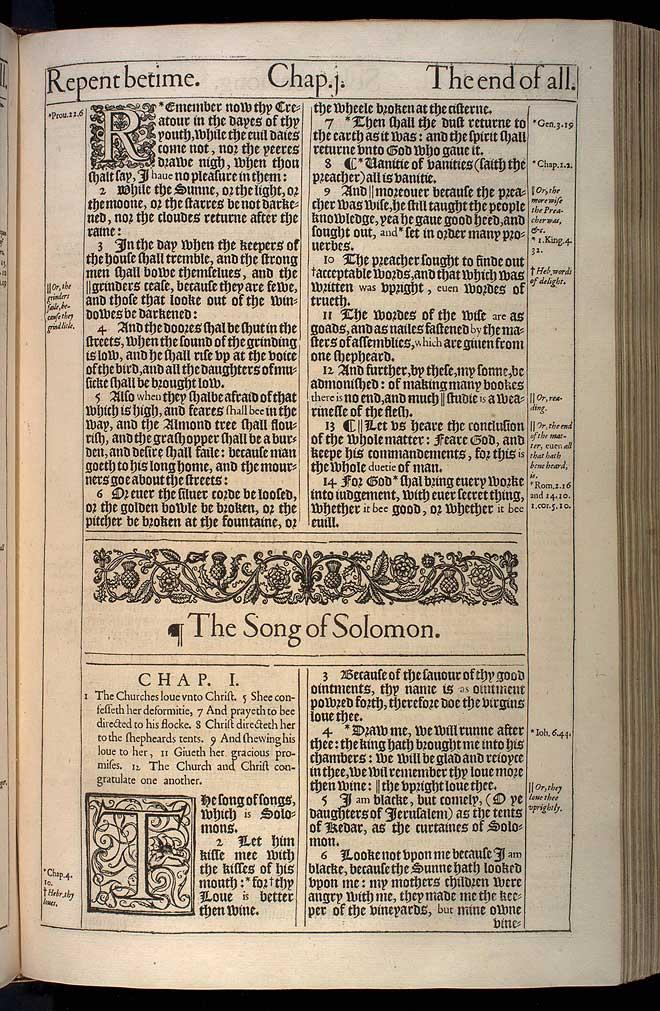 Ecclesiastes Chapter 12 Original 1611 Bible Scan