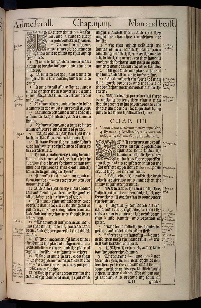 Ecclesiastes Chapter 4 Original 1611 Bible Scan