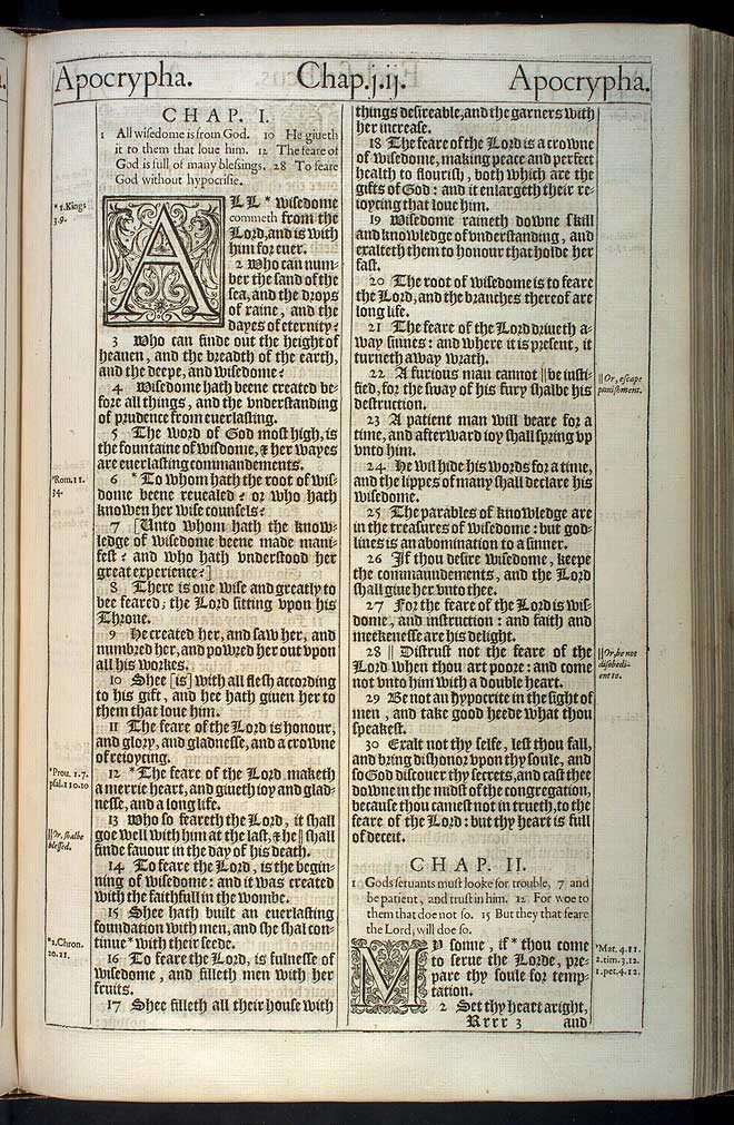 Ecclesiasticus Chapter 1 Original 1611 Bible Scan