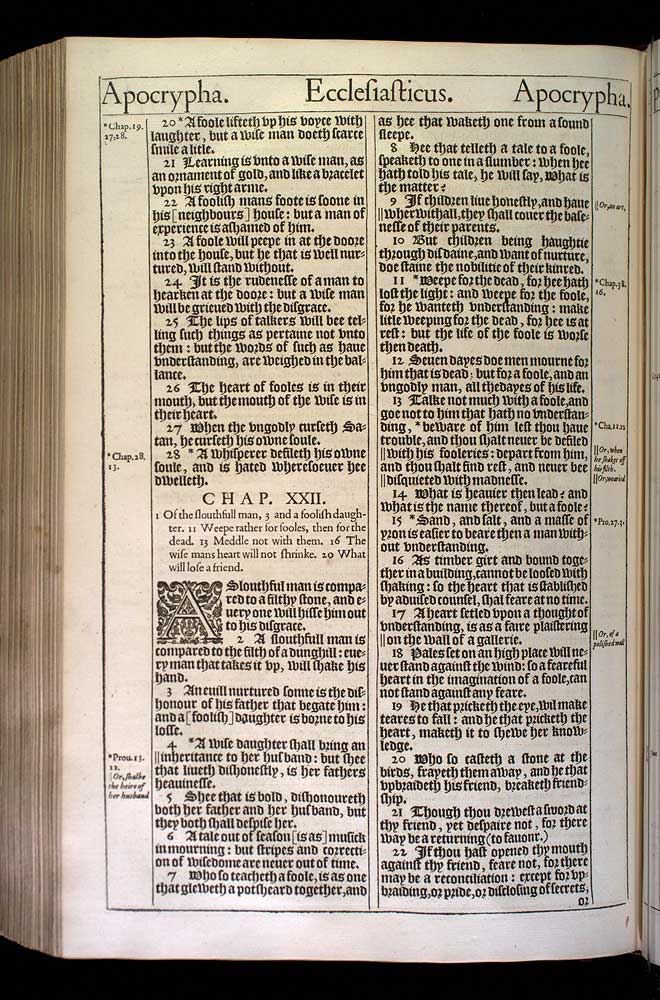 Ecclesiasticus Chapter 21 Original 1611 Bible Scan