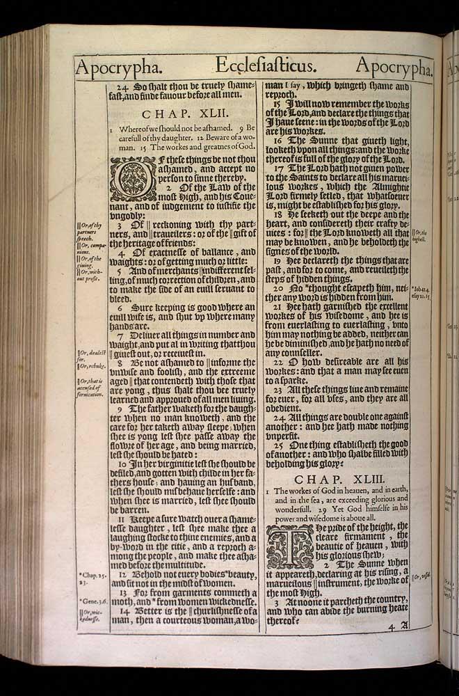 Ecclesiasticus Chapter 43 Original 1611 Bible Scan