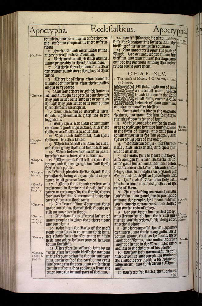 Ecclesiasticus Chapter 45 Original 1611 Bible Scan