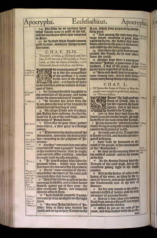 Ecclesiasticus Chapter 49 Original 1611 Bible Scan