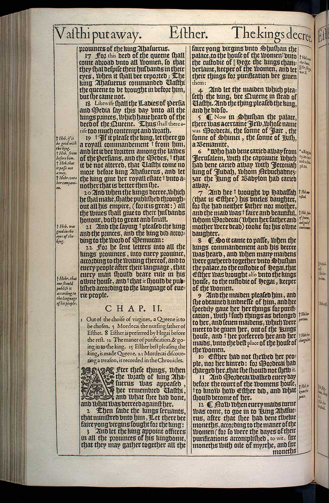 Esther Chapter 2 Original 1611 Bible Scan