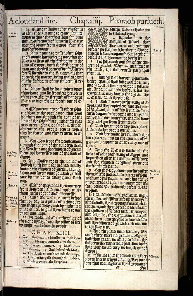 Exodus Chapter 13 Original 1611 Bible Scan