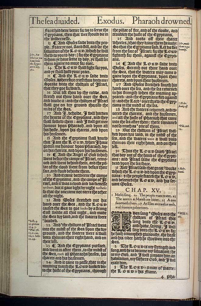Exodus Chapter 15 Original 1611 Bible Scan