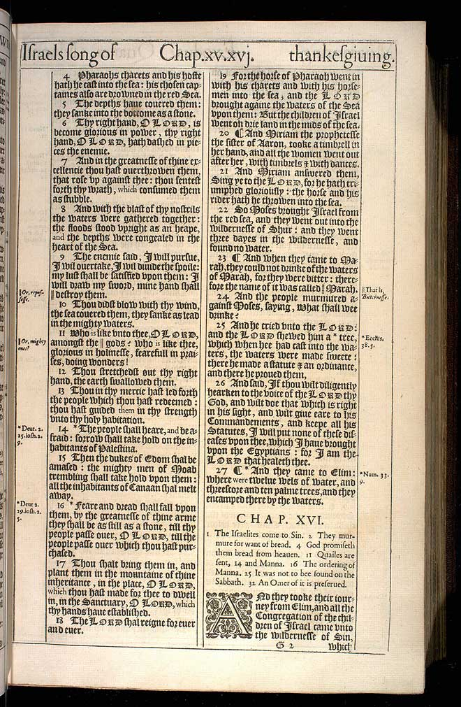 Exodus Chapter 15 Original 1611 Bible Scan