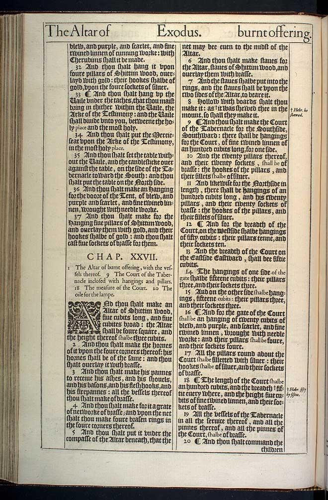 Exodus Chapter 26 Original 1611 Bible Scan