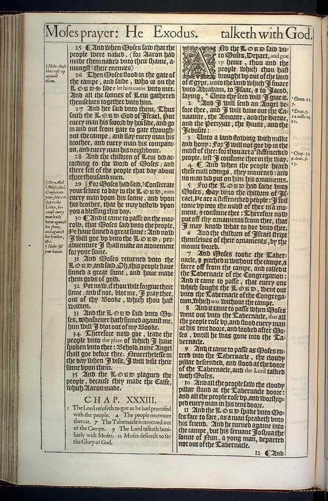 Exodus Chapter 33 Original 1611 Bible Scan