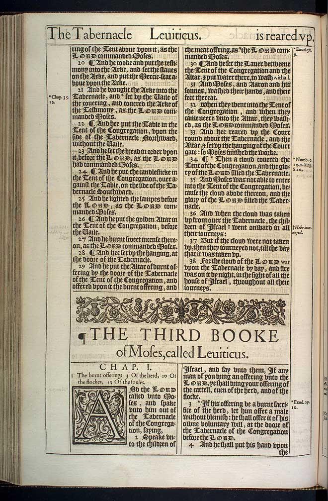 Exodus Chapter 40 Original 1611 Bible Scan