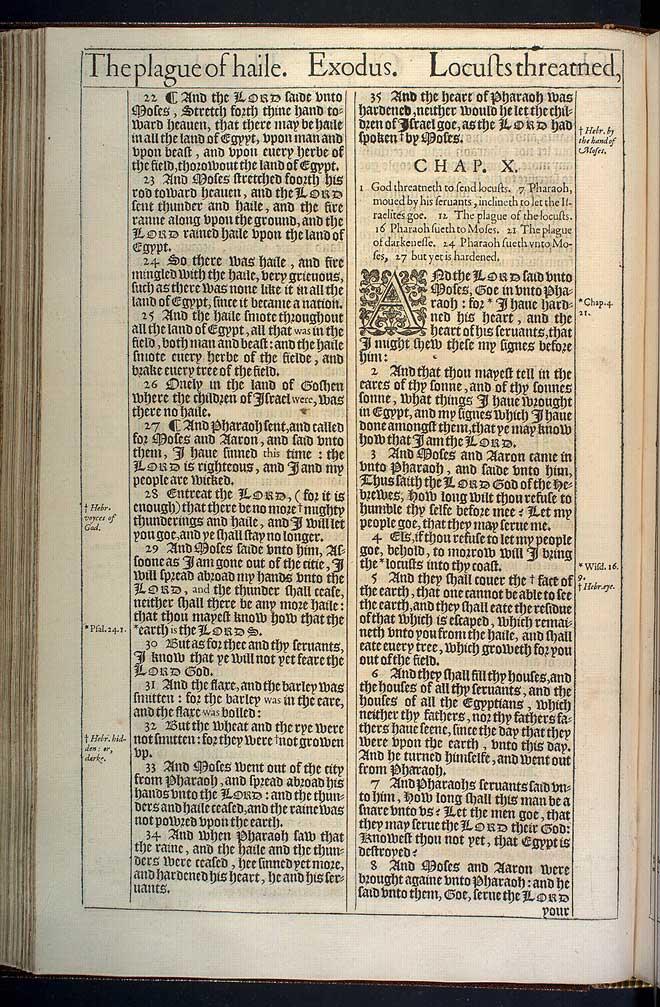 Exodus Chapter 9 Original 1611 Bible Scan