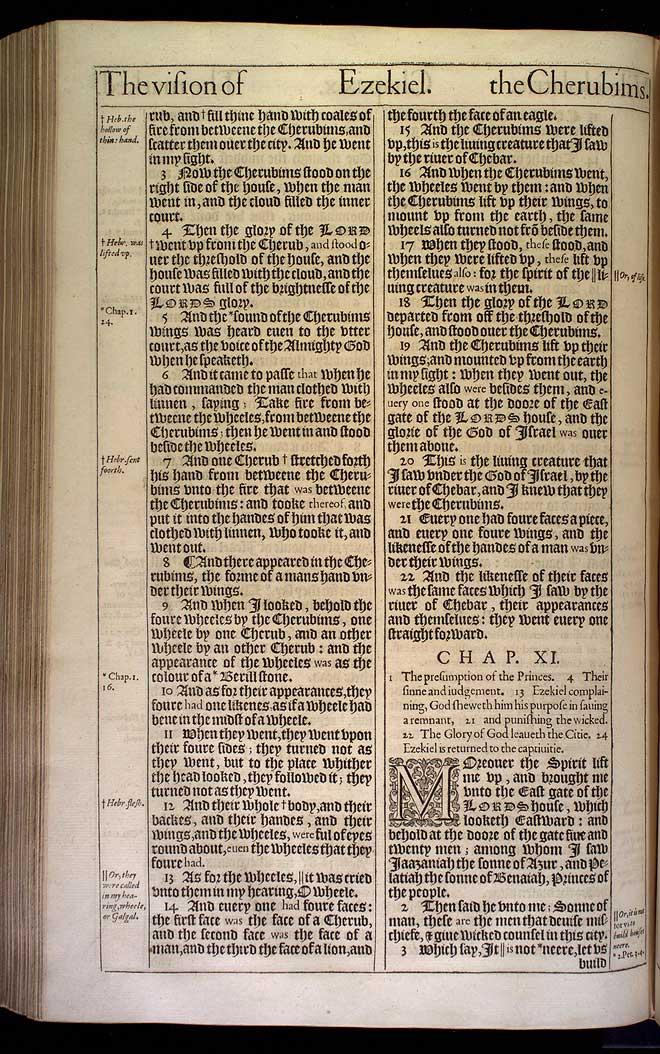 Ezekiel Chapter 10 Original 1611 Bible Scan