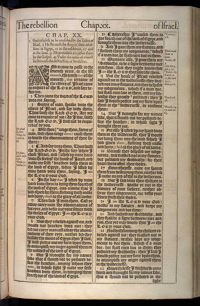 Ezekiel Chapter 20 Original 1611 Bible Scan