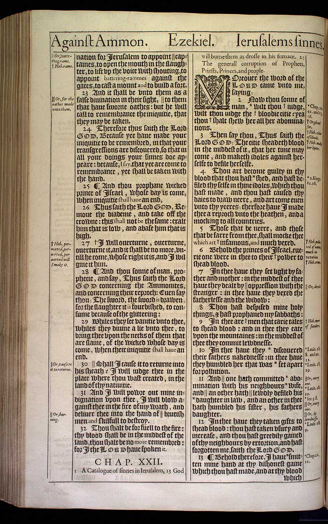 Ezekiel Chapter 21 Original 1611 Bible Scan