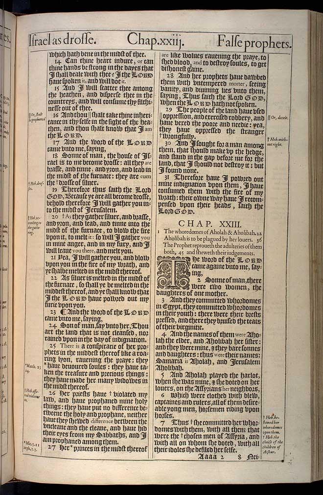 Ezekiel Chapter 23 Original 1611 Bible Scan
