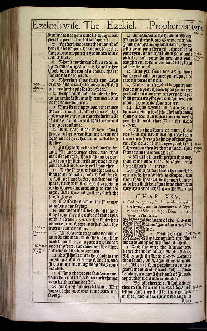 Ezekiel Chapter 24 Original 1611 Bible Scan