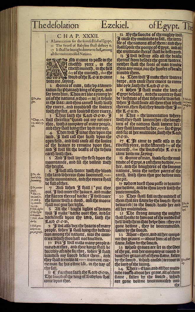 Ezekiel Chapter 32 Original 1611 Bible Scan