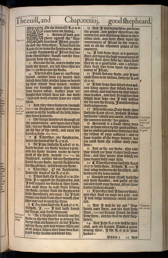 Ezekiel Chapter 34 Original 1611 Bible Scan