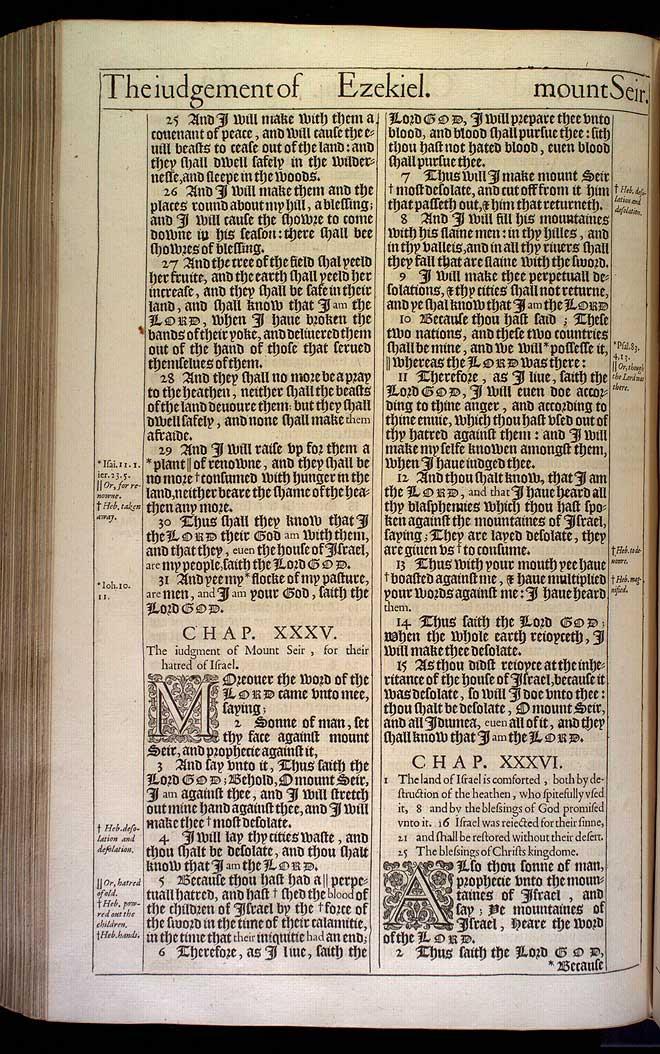 Ezekiel Chapter 34 Original 1611 Bible Scan