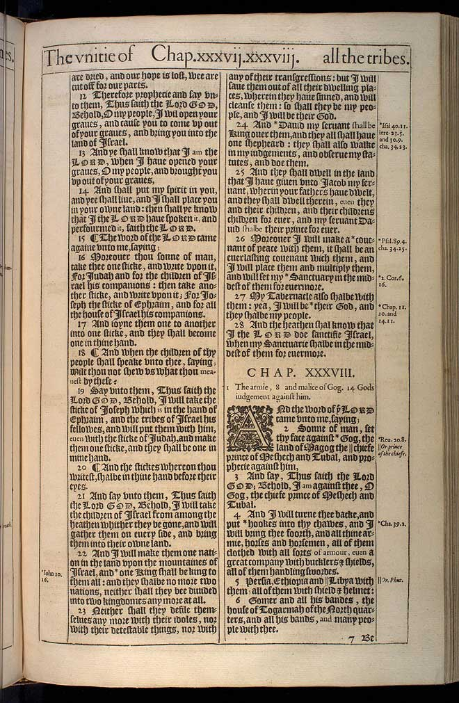Ezekiel Chapter 38 Original 1611 Bible Scan