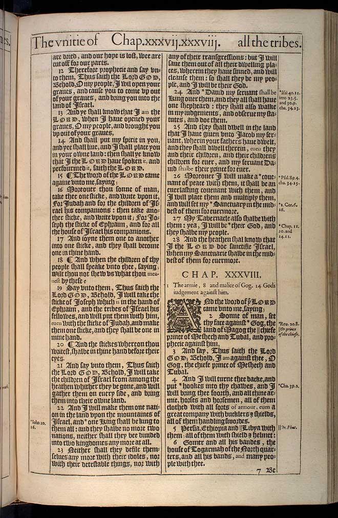 EZEKIEL CHAPTER 37 (ORIGINAL 1611 KJV)