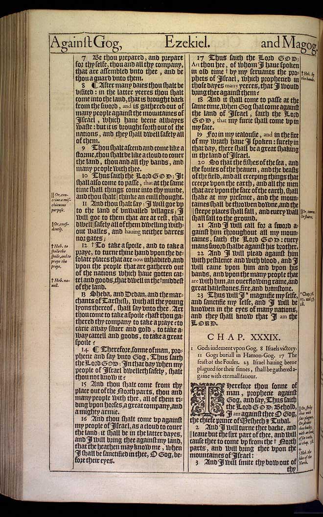 Ezekiel Chapter 39 Original 1611 Bible Scan