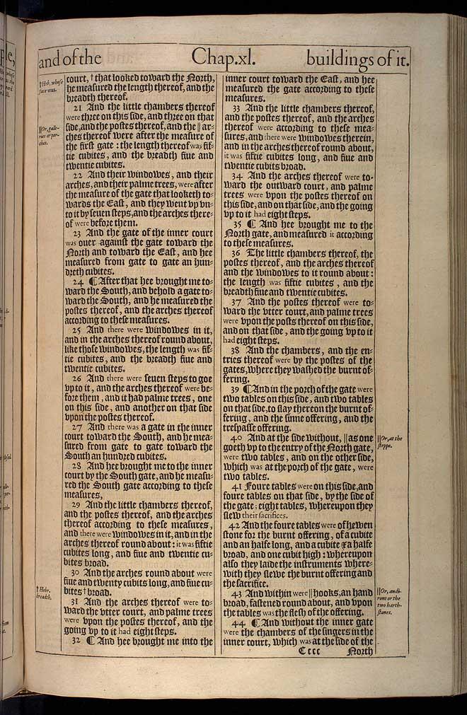 Ezekiel Chapter 40 Original 1611 Bible Scan