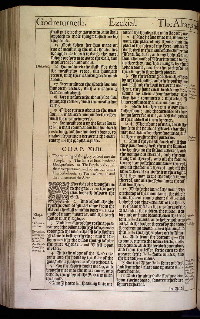 Ezekiel Chapter 42 Original 1611 Bible Scan