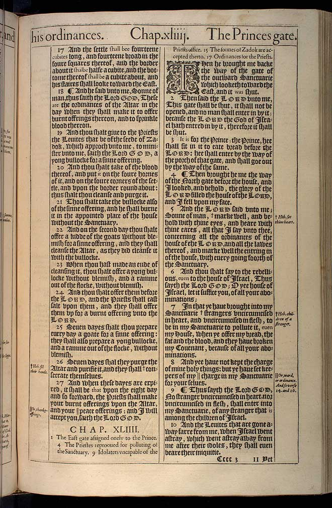 Ezekiel Chapter 43 Original 1611 Bible Scan